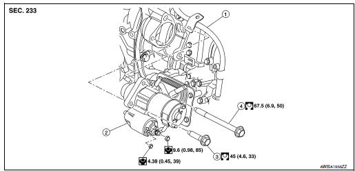 Nissan Rogue Service Manual: Removal and installation