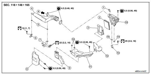 Nissan Rogue Service Manual: Air cleaner and air duct