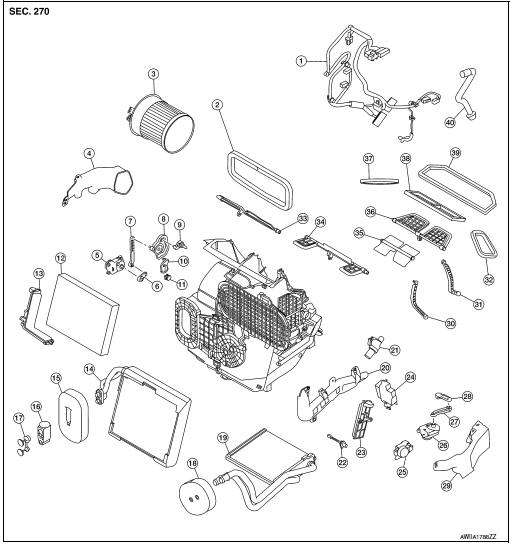 Nissan Rogue Service Manual: Heating and cooling unit