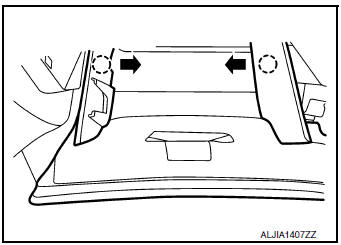 Nissan Rogue Service Manual: Glove box assembly and