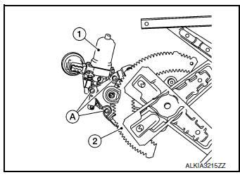 Nissan Rogue Service Manual: Rear power window motor
