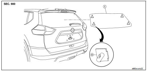 Nissan Rogue Service Manual: Back door window glass