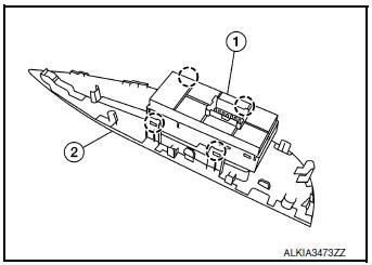 Nissan Rogue Service Manual: Power window and door lock