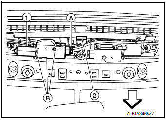 Nissan Rogue Service Manual: Sunshade motor assembly