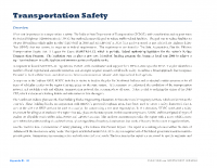 Appendix B – Transportation: Transportation Safety