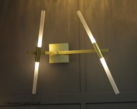 Star Wars Satin Gold Wall Lamp - Nirvana Lighting Nirvana ...