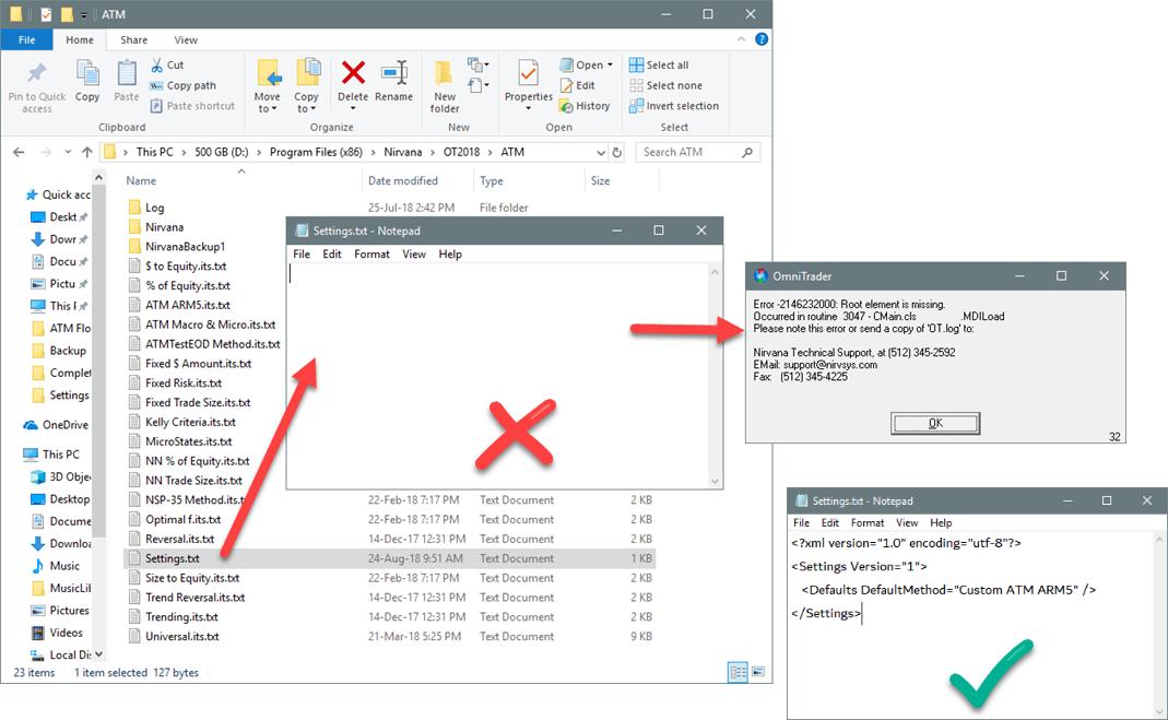Error -2146232000: Root element is missing  - Nirvana