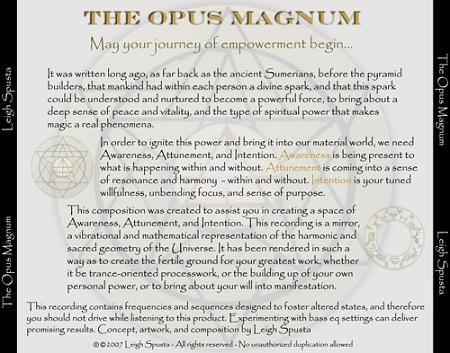 The Opus Magnum