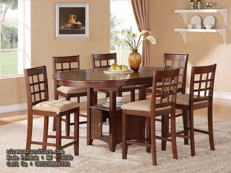 meja makan minimalis kayu jati jepara