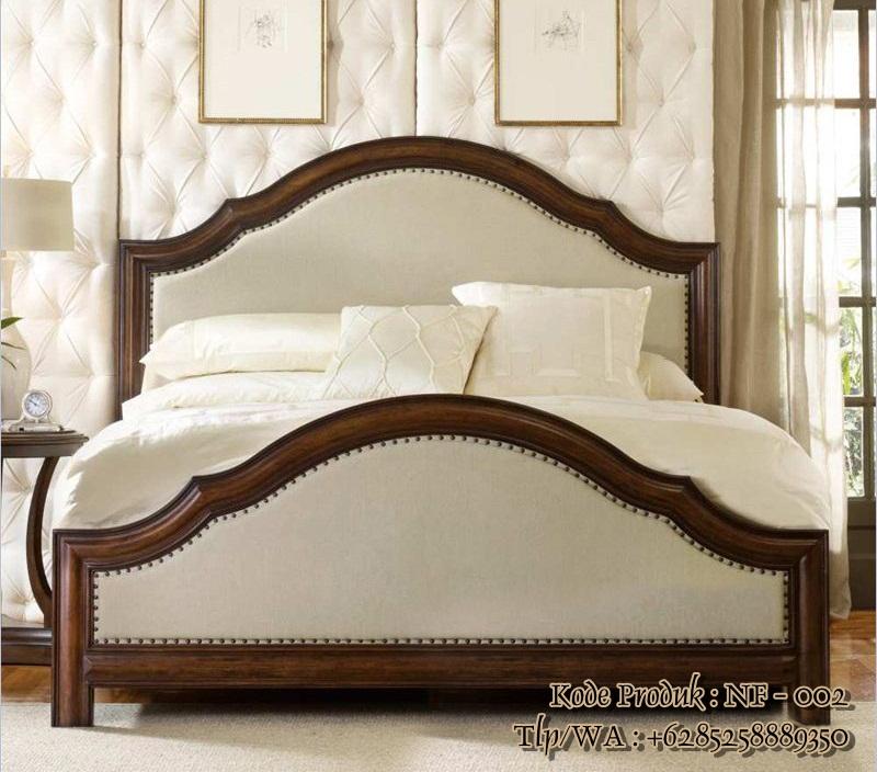 tempat tidur minimalis modern kayu jati nf - 002
