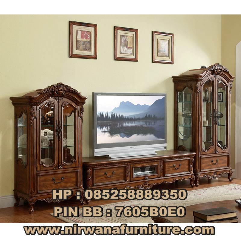 Desain Display Meja TV Klasik