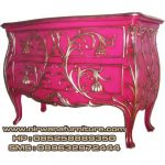 meja nakas klasik warna pink