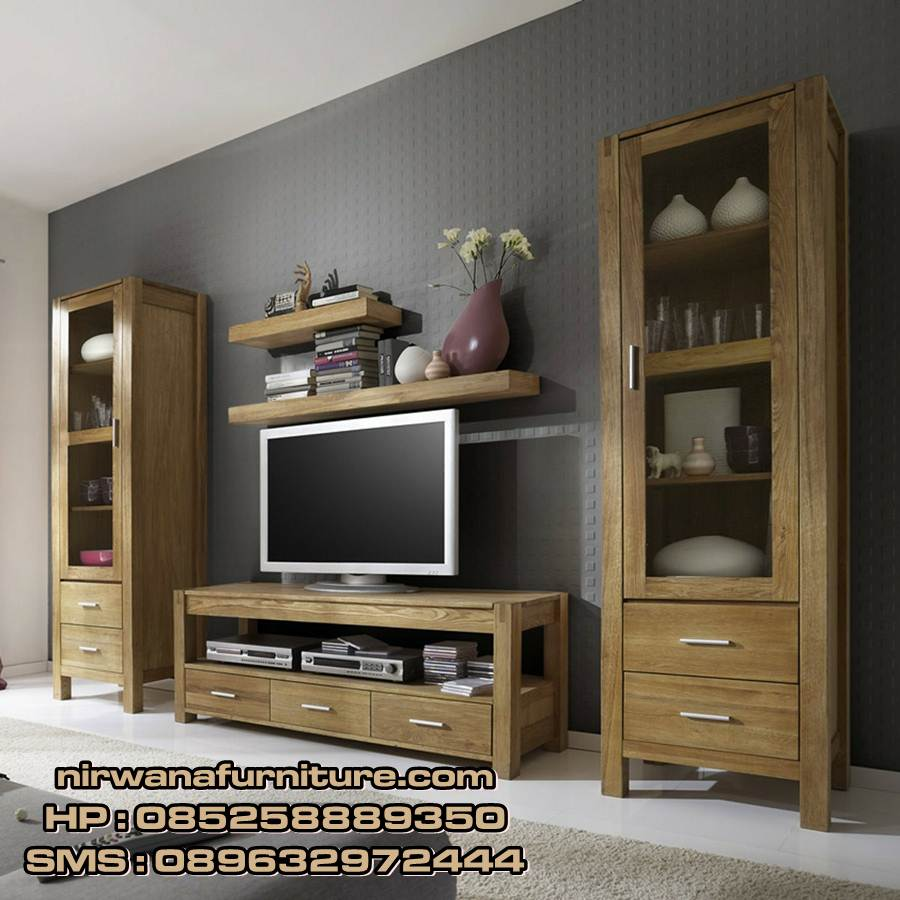 lemari tv cabinet minimalis mewah  toko mebel jepara