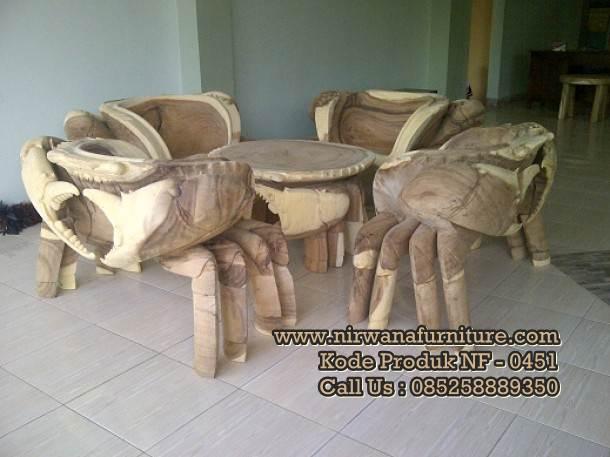 Kursi Tamu Antik Model Kepiting