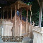 Mimbar Masjid Ukir Kayu Jepara Ready Stock