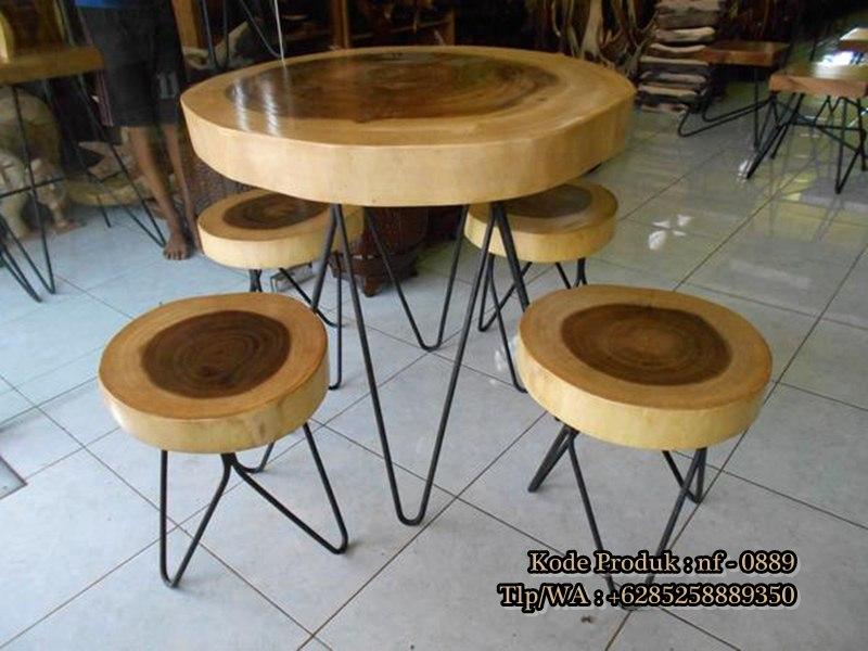 Meja Kursi Cafe Kayu Solid