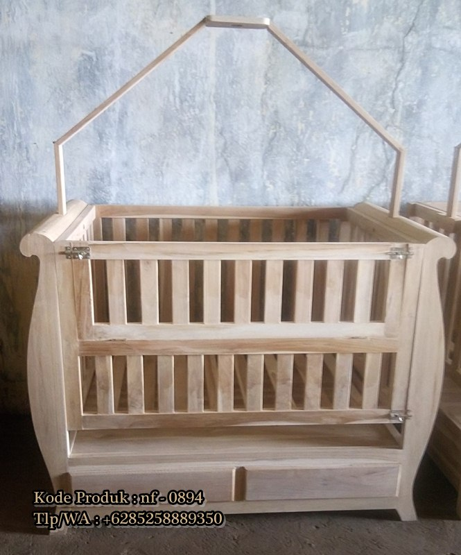 Box bayi kayu jati ready stock