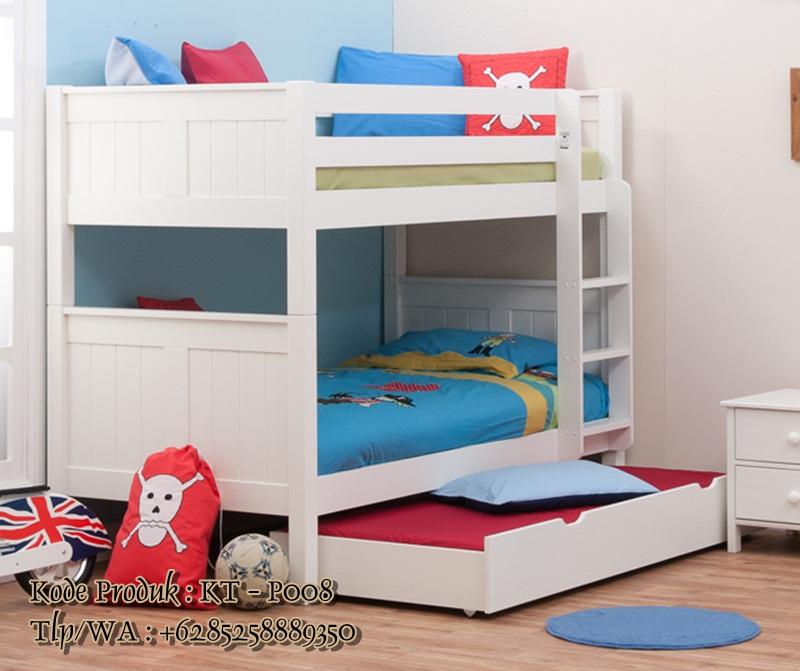 tempat tidur susun model minimalis