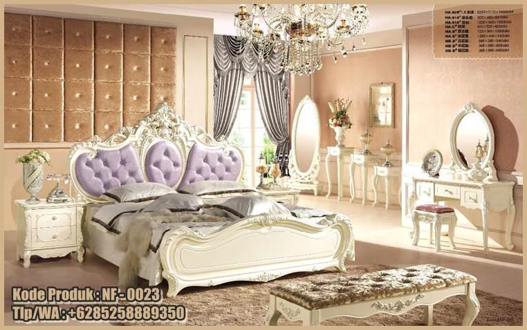 This image has an empty alt attribute; its file name is nf-0023-tempat-tidur-mewah-model-klasik-desain-princess.jpg