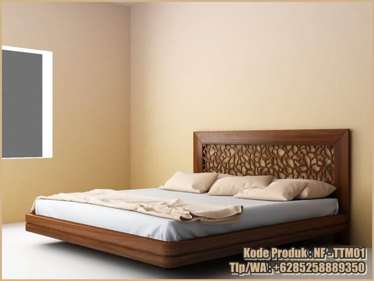 This image has an empty alt attribute; its file name is nf-ttm01-tempat-tidur-minimalis-kayu-jati-jepara.jpg