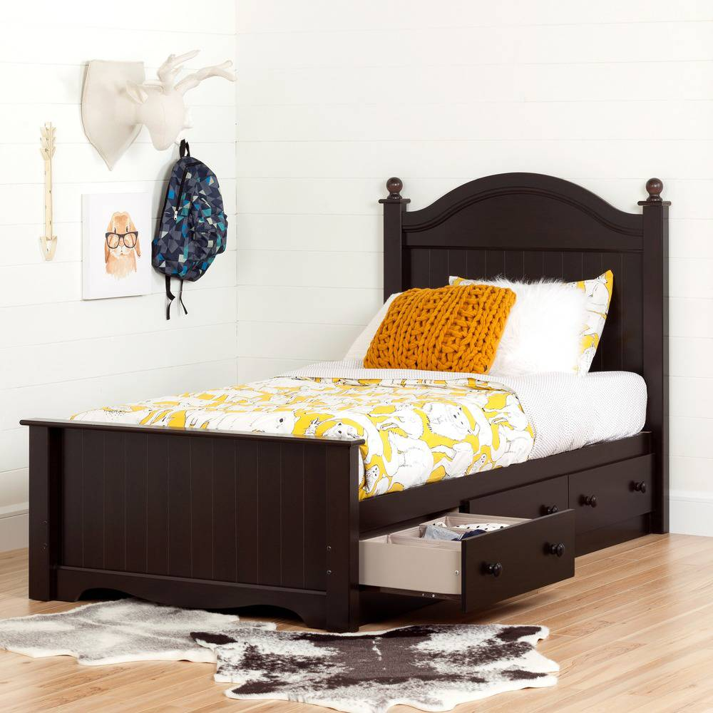 tempat tidur anak kayu jati laci multifungsi
