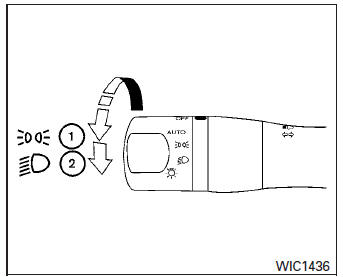 Nissan Sentra Owners Manual: Headlight control switch