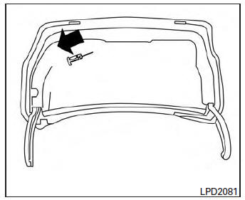 Nissan Sentra Owners Manual: Interior trunk lid release