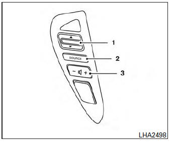 Nissan Sentra Owners Manual: Steering wheel switch for