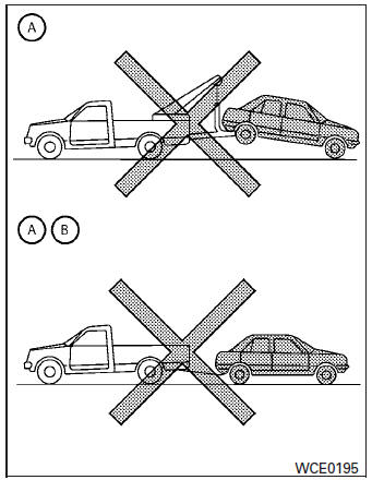 Nissan Sentra Owners Manual: Towing recommended by NISSAN