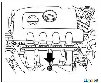 Nissan Sentra Owners Manual: Checking engine oil level