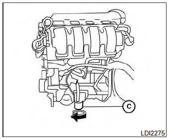 Nissan Sentra Owners Manual: Changing engine oil filter