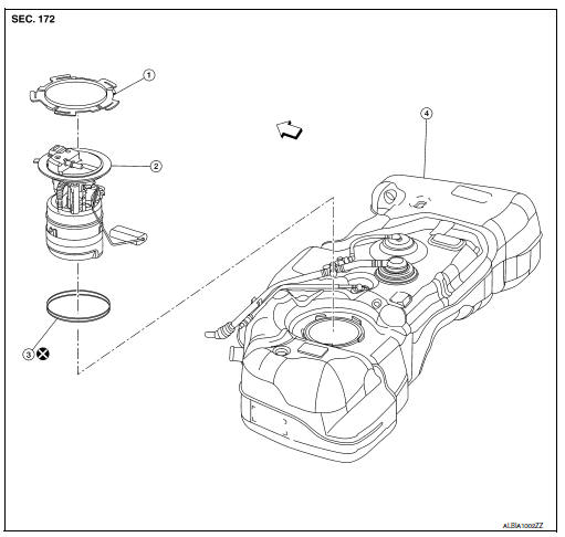 Nissan Sentra Service Manual: Fuel level sensor unit, fuel