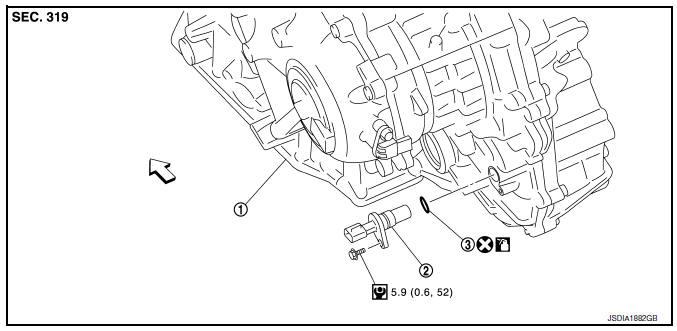 Nissan Sentra Service Manual: Output speed sensor