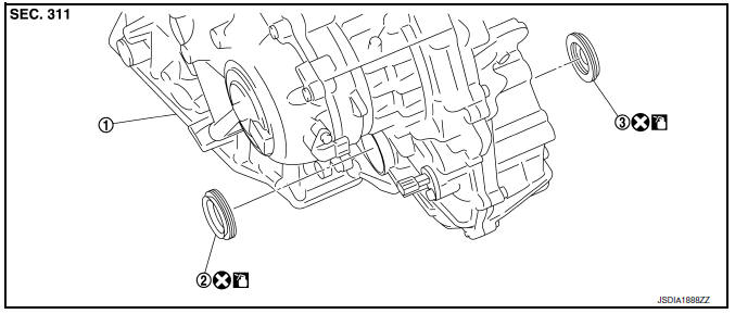 Nissan Sentra Service Manual: Differential side oil seal