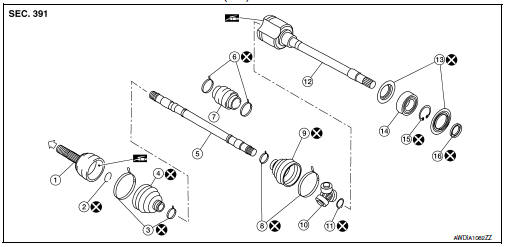 Nissan Sentra Service Manual: Front drive shaft boot