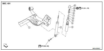 Nissan Sentra Service Manual: Rear shock absorber