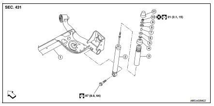 Nissan Sentra Service Manual: Rear shock absorber