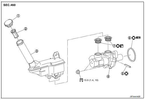 Nissan Sentra Service Manual: Brake master cylinder
