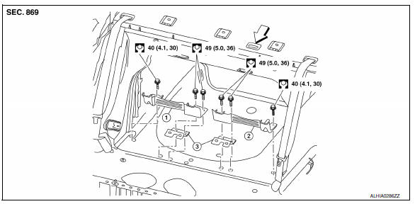 Nissan Sentra Service Manual: Latch system for children