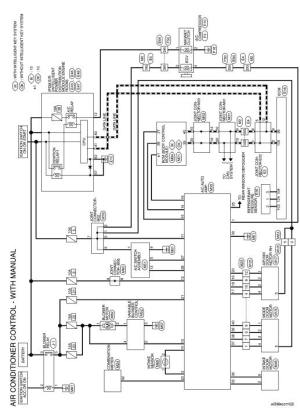 Nissan Sentra Service Manual: Wiring diagram  Manual air conditioner  Heater & air