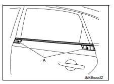 Nissan Sentra Service Manual: Door outside molding