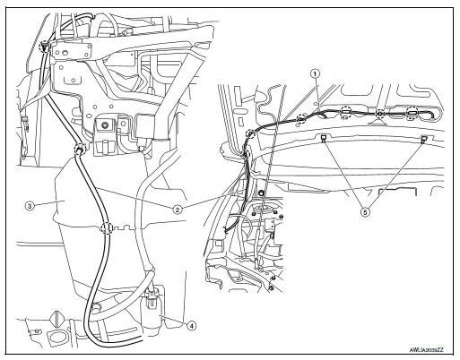 Nissan Sentra Service Manual: Washer nozzle & tube