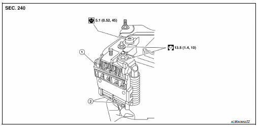 Nissan Sentra Service Manual: Battery terminal with