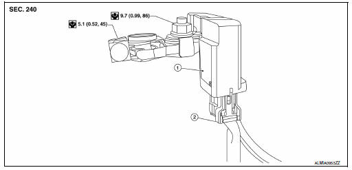 Nissan Sentra Service Manual: Battery current sensor