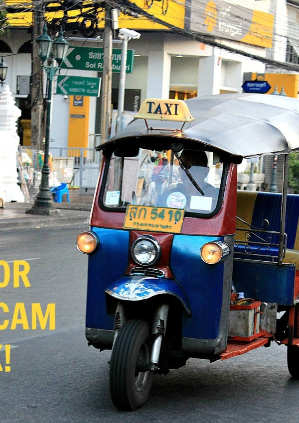 The Tuk-Tuk Scam In Bangkok Travel Vlog