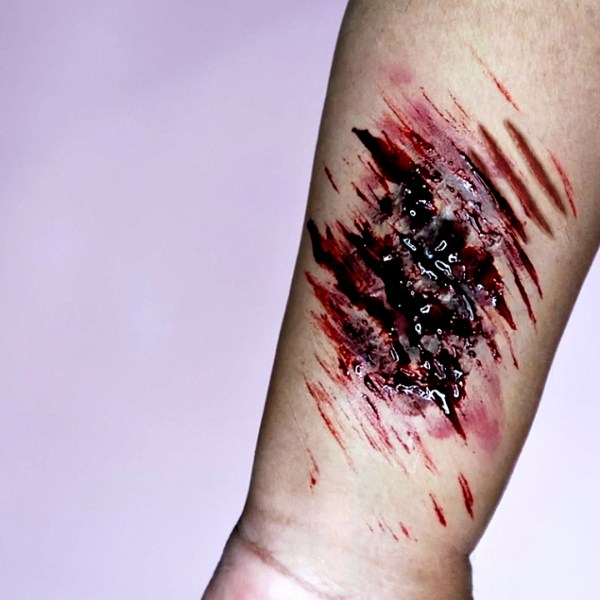 #nishivhalloween, HOW TO MAKE & USE LIQUID LATEX WOUNDS, halloween makeup, www.nishiv.com