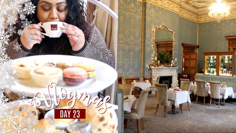 AFTERNOON TEA AT THORESBY HALL / Nishi V Vlogmas Day 23