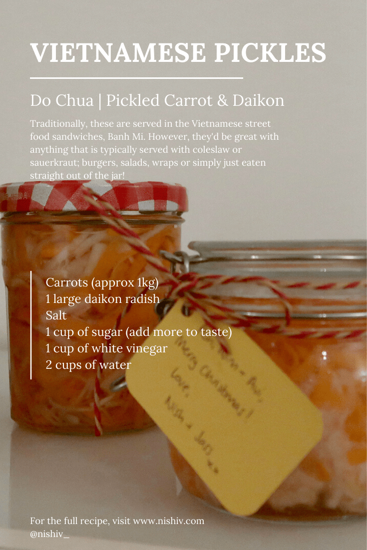 Vietnamese Pickled Carrot & Daikon recipe, Do Chua Recipe, Nishi V