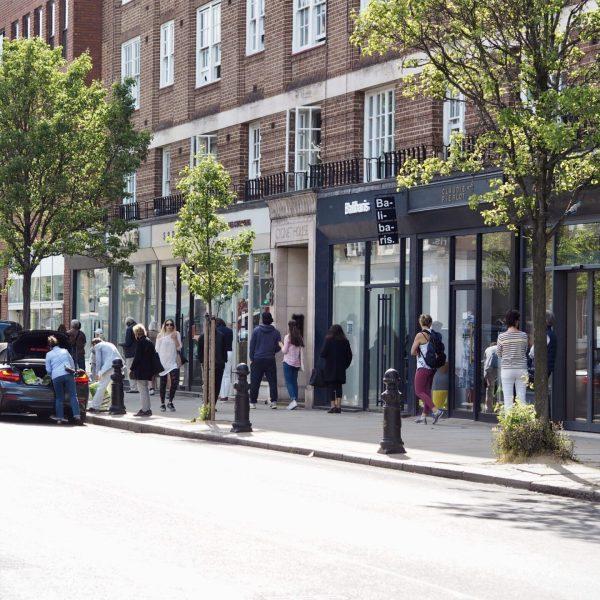 Lockdown London: Waitrose queue on Kings Road