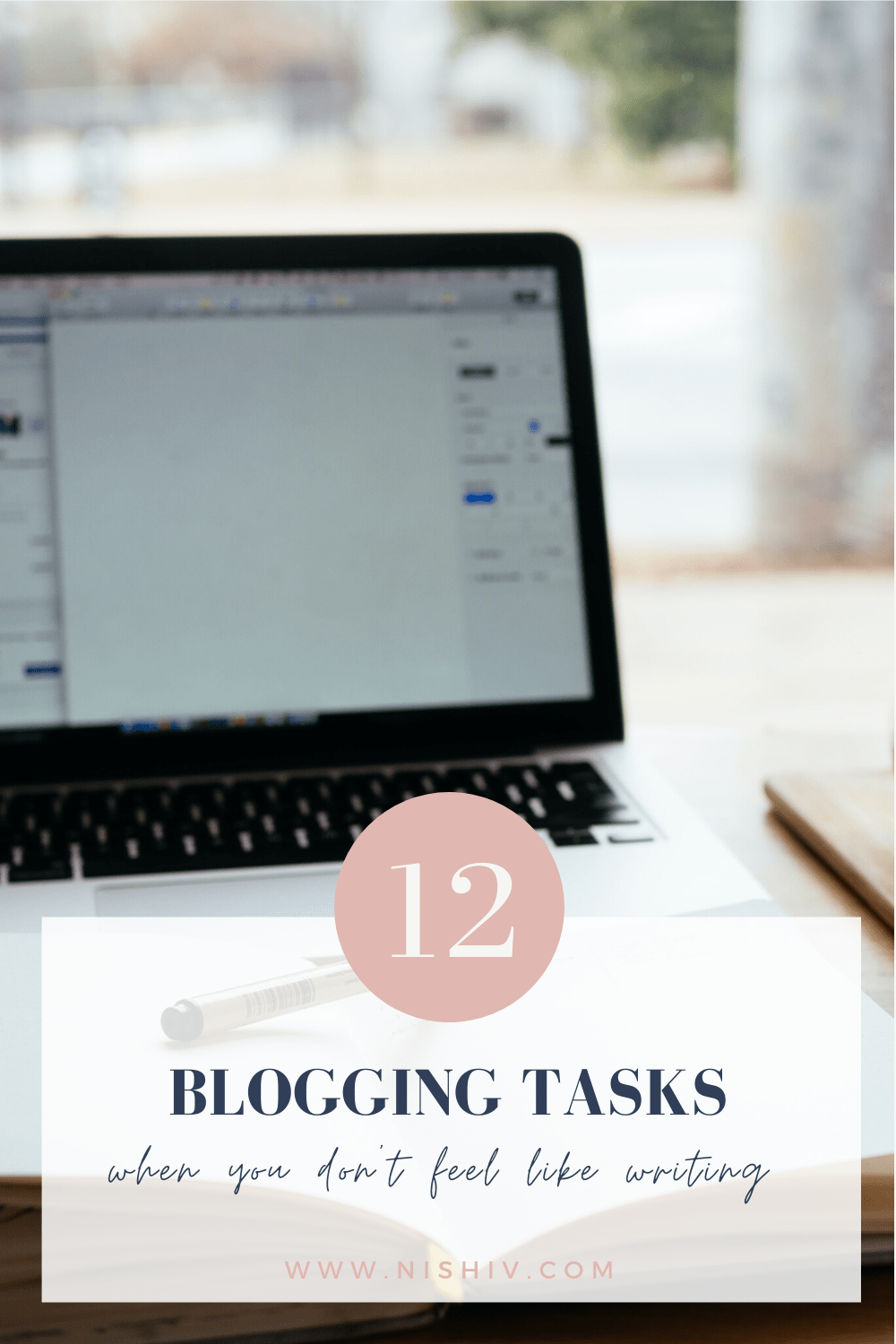 Pinterest image for 12 Blogging Tasks For When You Don't Feel Like Writing